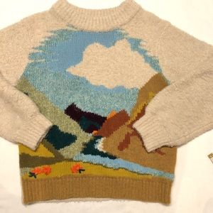 Anthropologie sleeping on snow sweater small top